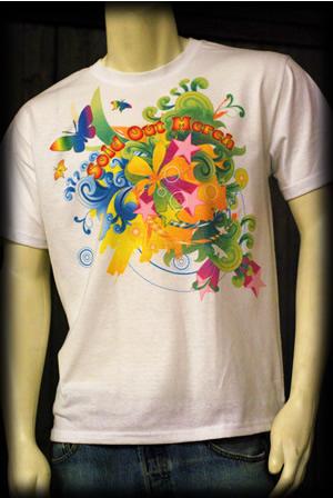 Contoh cetakan sublimation di baju